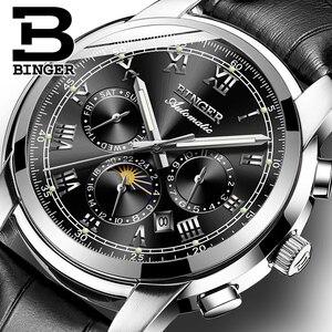 Image 1 - Zwitserland Automatische Mechanische Horloge Mannen Binger Luxe Merk Heren Horloges Sapphire klok Waterdicht relogio masculino B1178 12