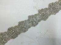 DHL Free shipping all glass Crystal Rhinestone Trim Wedding Accessories Bridal Sash Bracelet Headband DIY 10 yards/lot