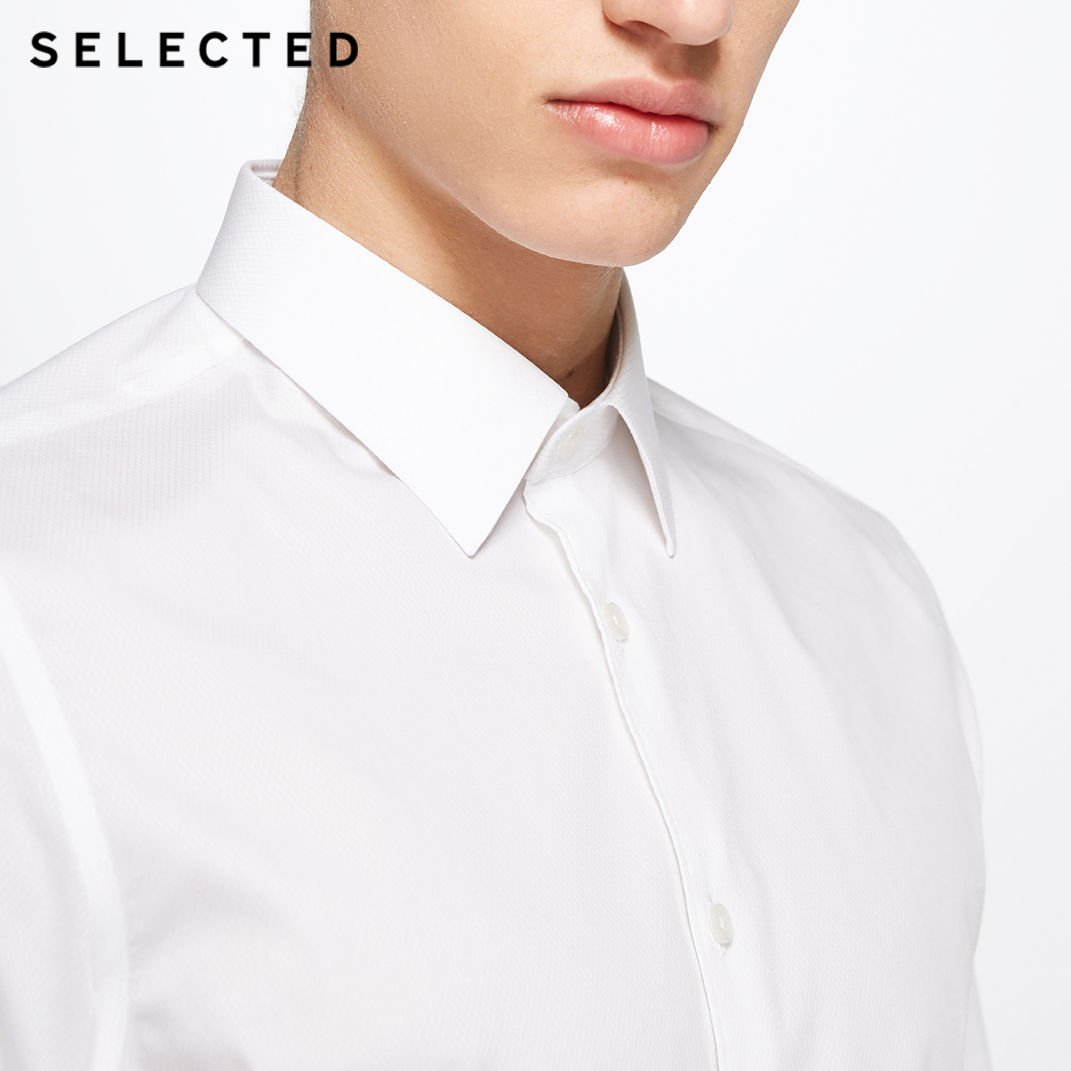 SELECTED Men Shirt Cotton Slight Stretch Pure Color Long sleeved Shirt Formal Shirts For Men 418105541 in Casual Shirts from Men 39 s Clothing