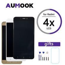 شاشة عرض عالية الجودة 5.0 بوصة لهاتف شاومي ريدمي 4X تجميع محول رقمي شاشة LCD + استبدال الإطار لشاشة ريدمي 4X