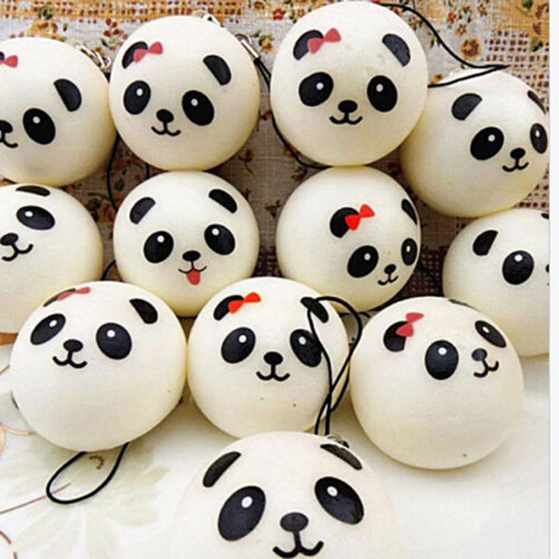 Aggressive 1 Pcs Kawaii Buns Bread Cell Phone Key/bag Strap Pendant Squishes Car Styling Decoration Jumbo Panda Squishy Charms Strengthening Waist And Sinews Jewelry & Accessories