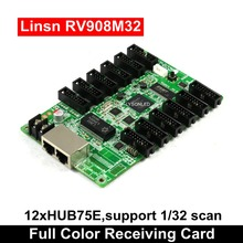 LYSONLED Linsn RV908 RV908M32 Led Video Display Receiving Card 12xHub75E Ports Support P2/P2.5/P3 Indoor 1/32 Scan LED Module