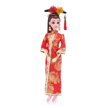 New 29cm 12 Jointed Doll Toy 3D Eyes Chinese Clothes for Dolls Accessories with Female Naked Body Head Shoes Doll Toys for Girls wmdoll top quality silicone sex doll head for real human dolls real doll adult oral sex toy for men