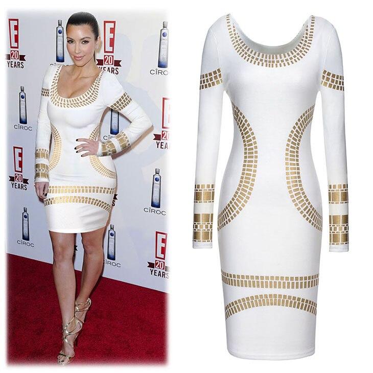 Online Get Cheap Plus Size White & Gold Dress Long -Aliexpress ...