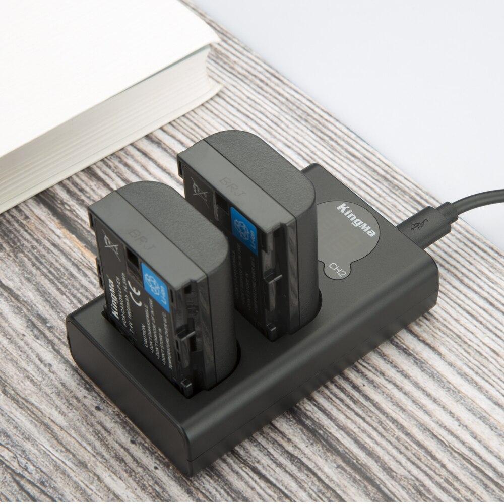 KingMa LP-E6 Batterie et LCD Double Kit de Chargeur de Batterie pour Canon EOS R 5D4 70D 6D 5D3 5D2 5DSR 7D 7D2 6D2 5D3 80D 60D LP-E6N - 5