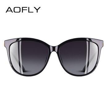 8896c56536 AOFLY BRAND DESIGN New Fashion Sunglasses Women Cat Eye Polarized Sun  Glasses Goggles Oculos De Sol UV400 A114