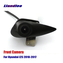 Liandlee AUTO CAM Car Front View Logo Embedded Camera For Hyundai i25 2010-2017 2015 2016 ( Not Reverse Rear Parking )