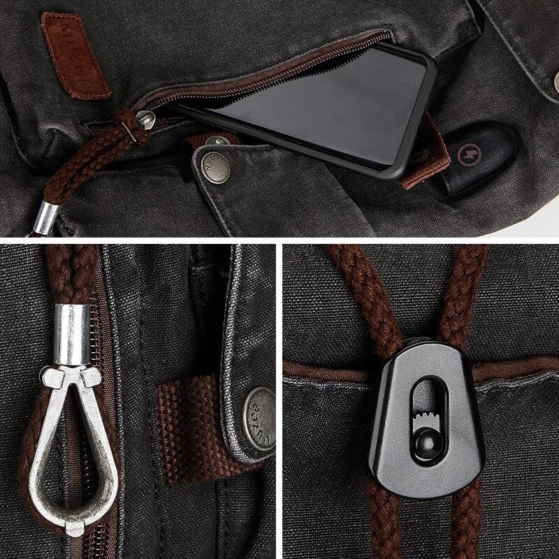 Muzee collège sac à dos hommes USB Port de charge Anti-vol Bookbag 15.6 pouces sac à dos pour ordinateur portable école hommes voyage Daypack 1883 - 6