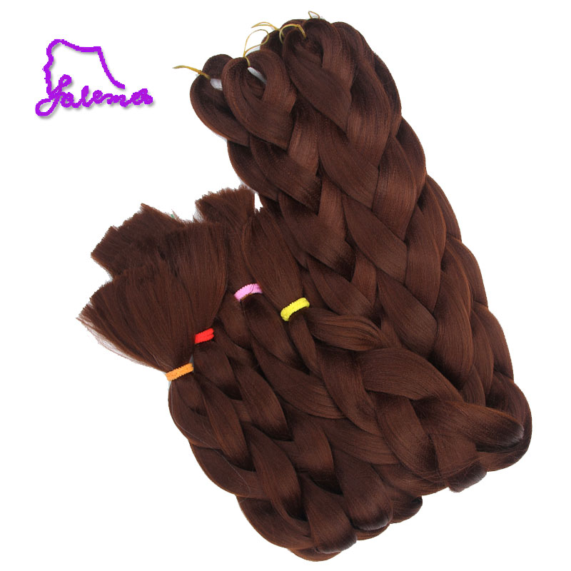 FALEMEI 6pack 82Inch Synthetic Braiding Hair Extensions Kanekalon Jumbo Braids Colors sy ...