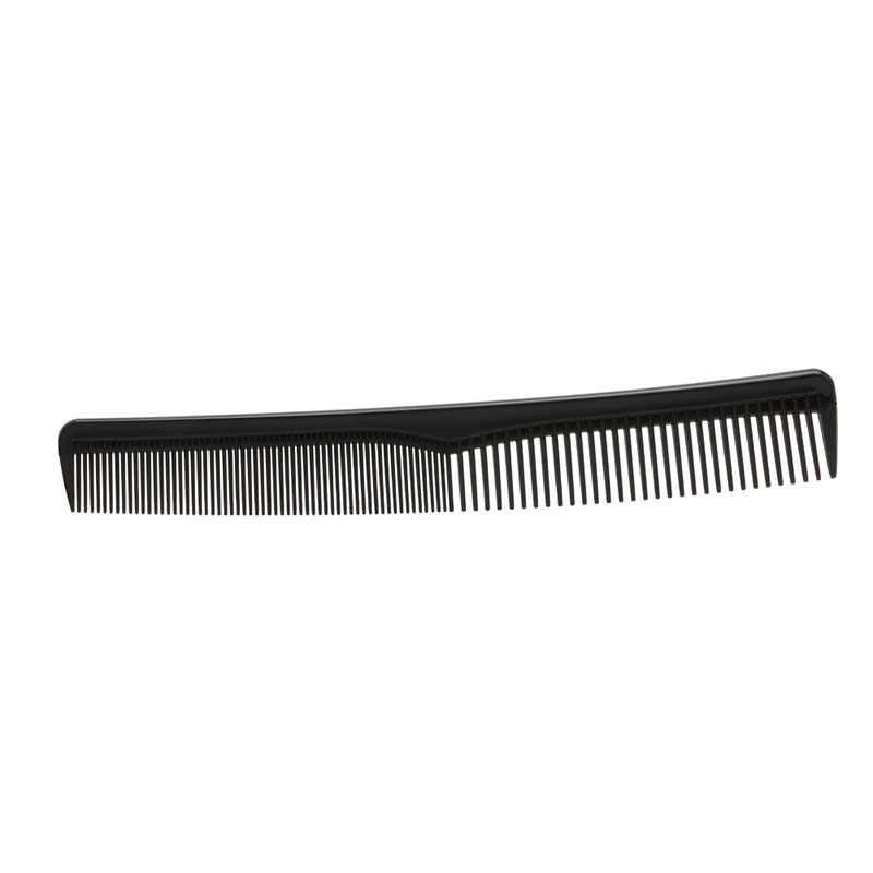 Baru Hitam Profesional Salon Tata Rambut Cutting Sisir Plastik Alat Anti-Static