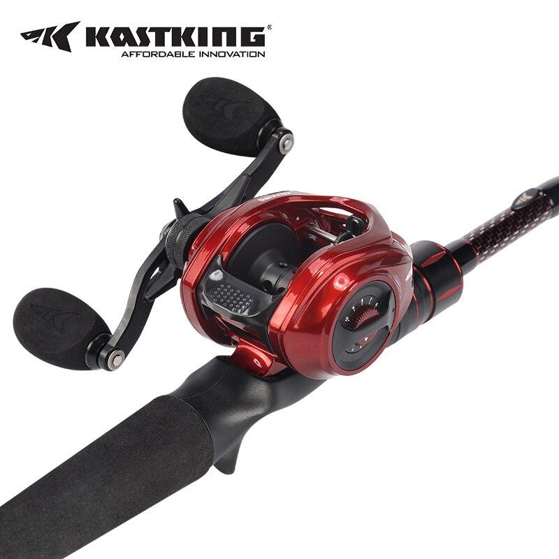KastKing Royale Légende Elite Baitcasting Reel + Ultra-Léger Carbone Pêche Casting Rod Canne À Pêche Combo