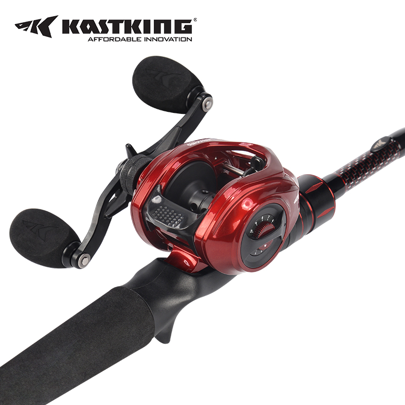 KastKing Royale Legend Elite Bobina di Baitcasting + Ultraleggero Da Pesca In Carbonio Canna Da Pesca Casting Set canna e mulinello