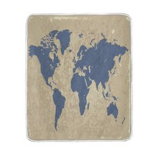 Buy map world blanket and get free shipping on aliexpress charm home retro world map soft warm gumiabroncs Images