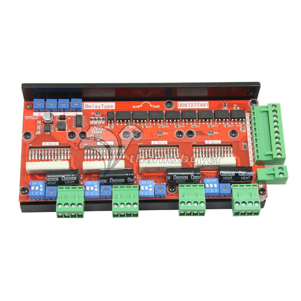 цена на Brand New Design 4 Axis 2 Phases Stepper Motor Driver 4A128 Microstep LV8727 DD8727T3V1