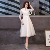 2019 White Evening Dresses Elegant Lace Evening Gowns Formal Evening Dress Styles Women Prom Party Dresses LF428