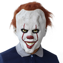 Stephen Kings It Pennywise Mask Latex Halloween Scary Cosplay Clown Party Prop