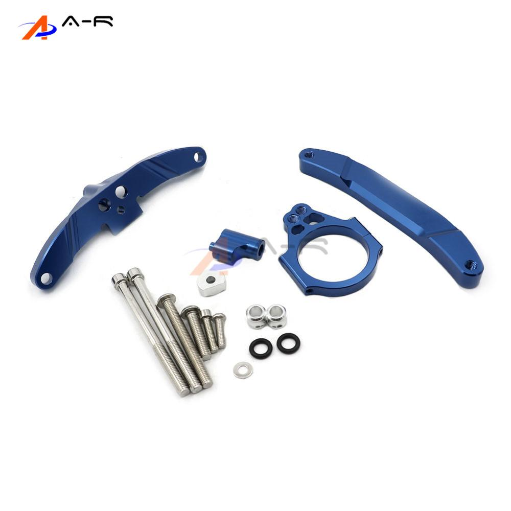 Blue CNC Direction Steering Damper Stabilizer Bracket for Yamaha FZ1 FAZER 2006-2015 2014 2013 2012 2011 2010 2009 2008 2007 motorcycle steering damper mounting bracket kit for yamaha fz1 fazer 2006 2015 2007 2008 2009 2010 2011 2012 2013 2014