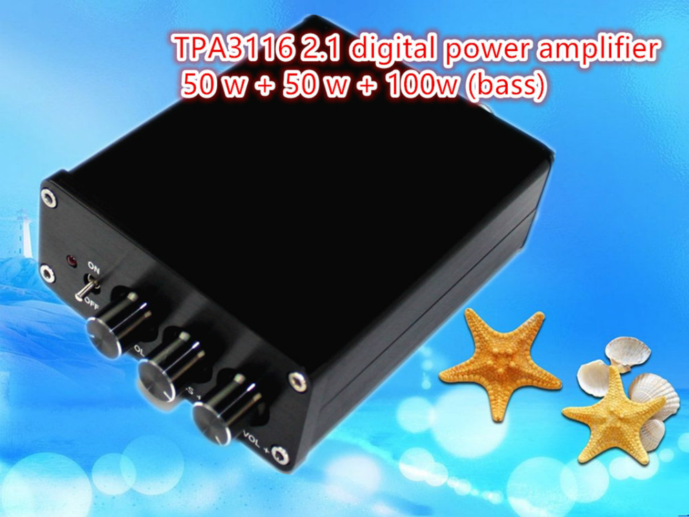 YJ Audio TPA3116 200W 2.1 Subwoofer HiFi Digital Audio Power Amplifier Sound good than expected aluminum mini amplifiers speaker