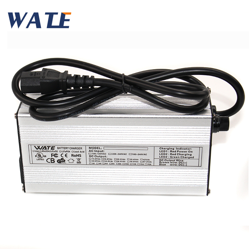 54.6v 5a battery charger bike 48v Lithium 48 volt li ion 54.6v 5A smart intelligent For 10Ah 15Ah 48v 20ah battery charger 13s-in Chargers from Consumer Electronics    1