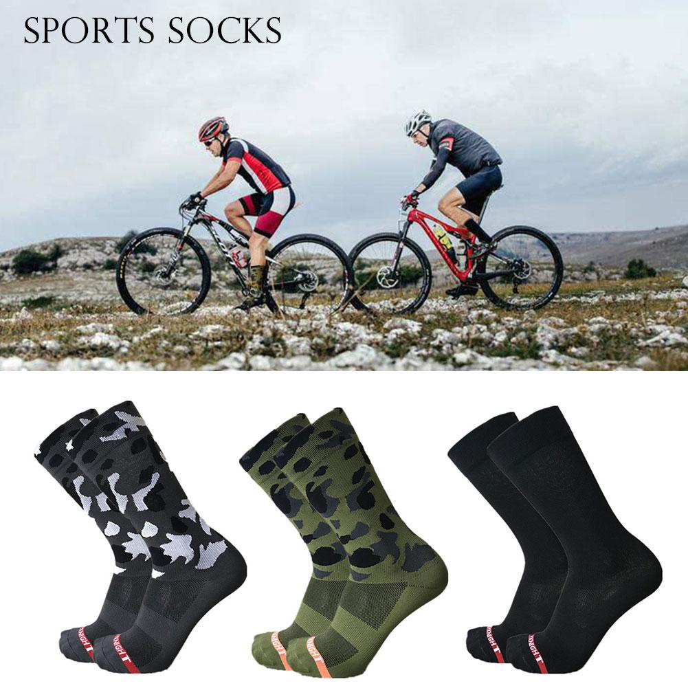 2018 New Olive Green Camouflage Professional Outdoor Running Riding Cycling Socks Unisex Sports Bike Socks