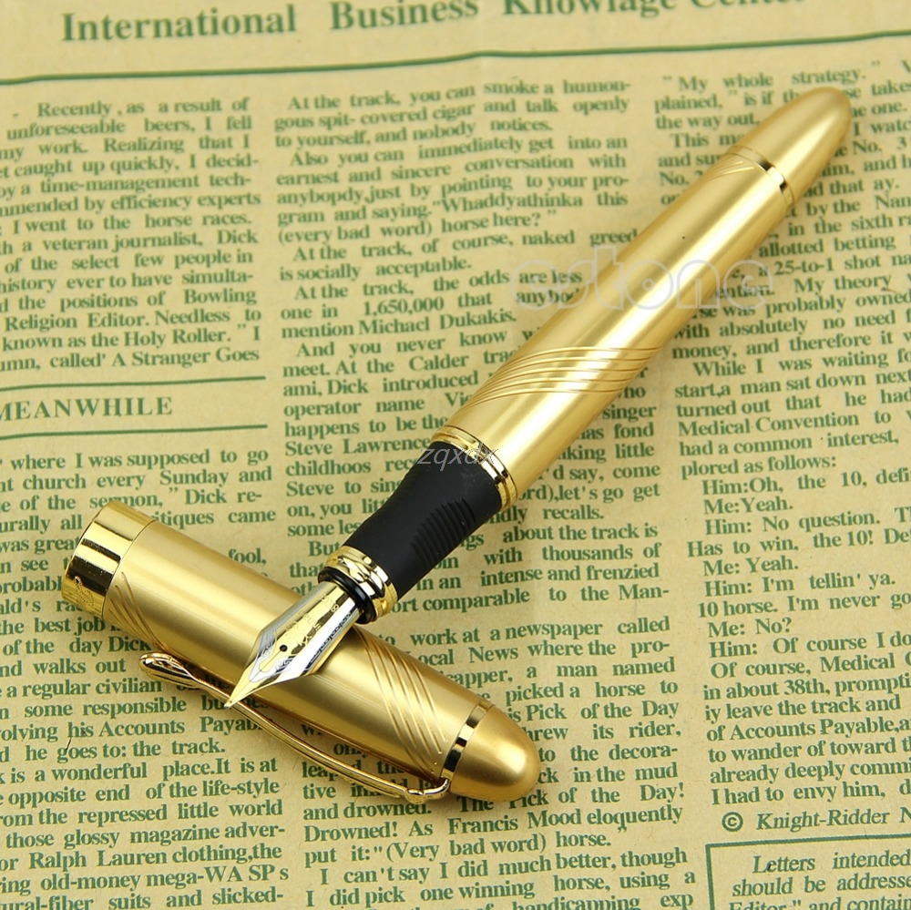New Jinhao X450 golden Twist Carven B Nib metal Fountain Pen Z11 Drop ship