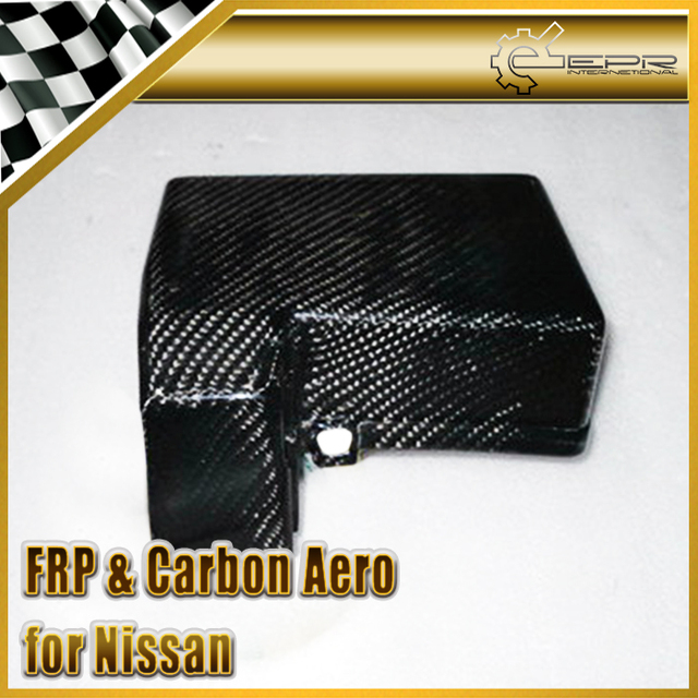 car-styling for nissan skyline r33 gtr gts carbon fiber fuse box  replacement glossy fibre finish engine accessories racing trim