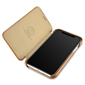 Image 3 - ICARER Luxury Vintage Genuine Leather Case For iPhone XR High Quality Handmade Flip Cover For iPhone XR Retro Leather Case