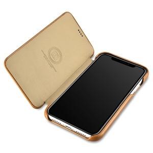 Image 3 - ICARER Luxury Vintage Genuine Leather Case For iPhone XR High Quality Handmade Flip Cover For iPhone XR Retro Leather Case