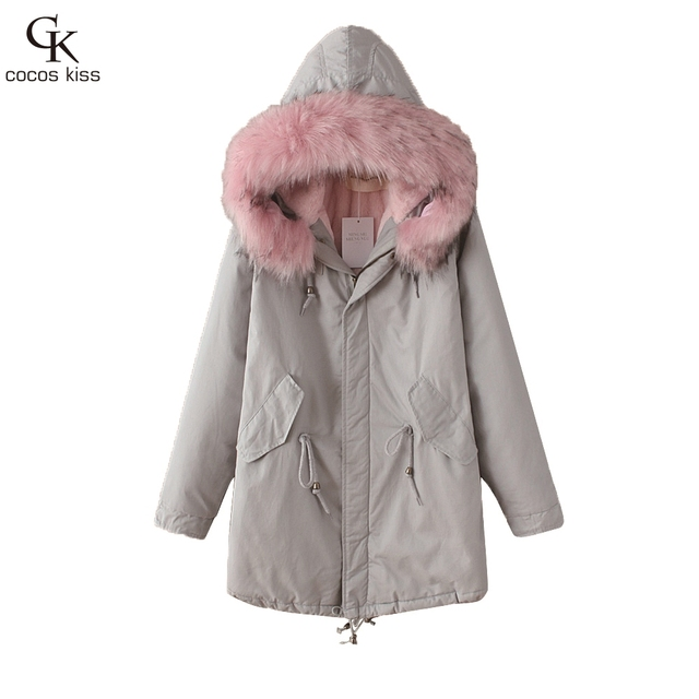 Winter Jacket Women 2016 Down Parka Plus Size Cotton Padded Coat Fur Hooded Outwear  Sleeve Winter Coat Women