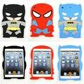 New 7.9 inch Cartoon Cute Batman Spiderman 3D Hero Silicon Soft Children Back Cover Case for ipad mini 1 2 3