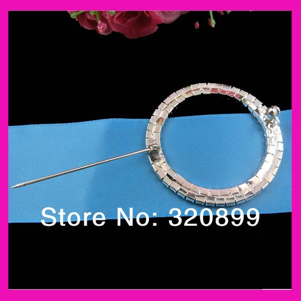 50mm Double Rows Crystal Rhinestone Chair Sash Buckles Wedding Ribbon With Pin Whole In Hooks From Home Garden On Aliexpress