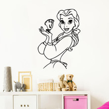 Cartoon snow white Nursery Wall Stickers Vinyl Art Decals Kids Room Nature Decor Sticker Mural Bedroom Mural adesivo de parede(China)