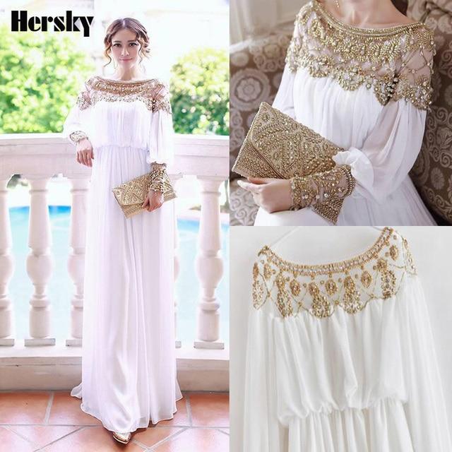 8a306834c549b33 2019 Новый мусульманский abaya платье турецкое Женская одежда с крупным  бисером Формальные шифон Исламская мусульманские платья