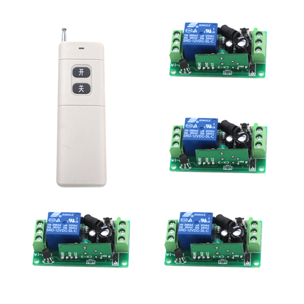 MITI-Wireless DC 12V 10A 1CH Remote Control Switches 4 Receiver with 1pc AB 2-Buttons Transmitters SKU: 5223 new restaurant equipment wireless buzzer calling system 25pcs table bell with 4 waiter pager receiver