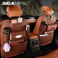 Car Organizer Back Seat Storage Bag Hanging Bag Auto Universal Travel Accessoires Cup Holder Pocket Kids