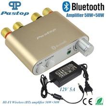 Al por mayor Nuevo Hogar Receptor Mini Bluetooth 4.0 Amplificador Digital de Audio Amplificador de Alta Fidelidad 100 W TPA3116 Con fuente de Alimentación-10000409_G