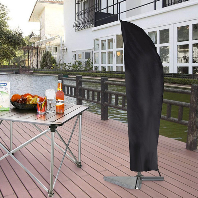 Su geçirmez Oxford kumaş açık muz şemsiye kapak bahçe hava koşullarına dayanıklı veranda konsol şemsiye yağmur kılıfı aksesuarları