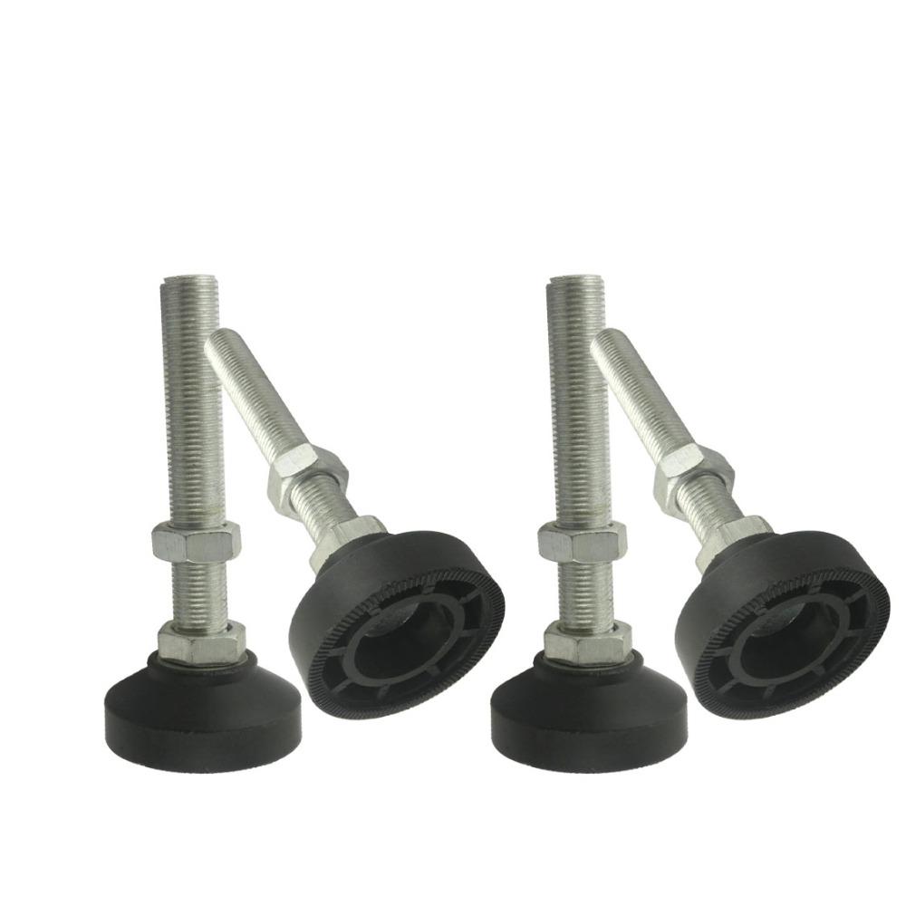 M6x40mm Stainless Steel Threaded Adjustable Foot with 40mm Reinforced  Base