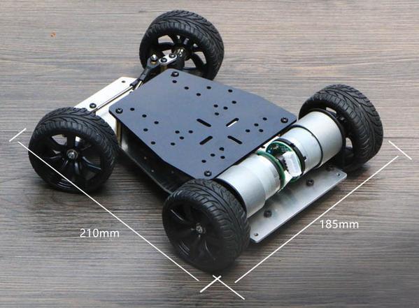 Elecrow bricolage voiture intelligente pour Arduino Robot éducation voiture intelligente encodeur châssis roue avant-direction direction double moteur entraînement - 2