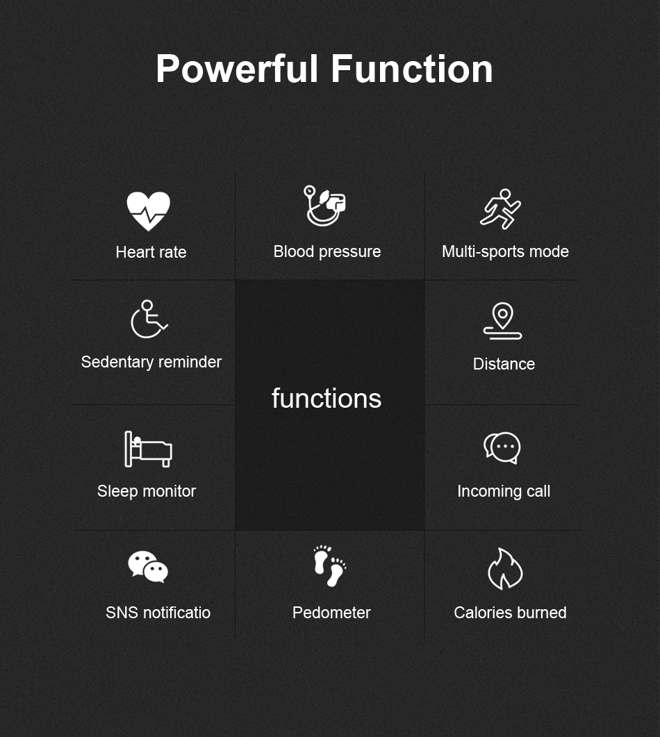 Q28 Smart Watch IP67 Waterproof Wearable Device Bluetooth Pedometer Heart Rate Monitor Men Fashion SmartWatch For AndroidIOS (2)