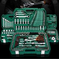 61 150pcs Car Repair Tools set Mechanic Tools Set Socket Wrench Tools for Auto Ratchet Spanner Screwdriver Socket Hex Key Set