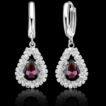 925 Sterling Silver Bridal Wedding Jewelry Sets Fine Water Drop Pendants Necklaces Earring Set  1