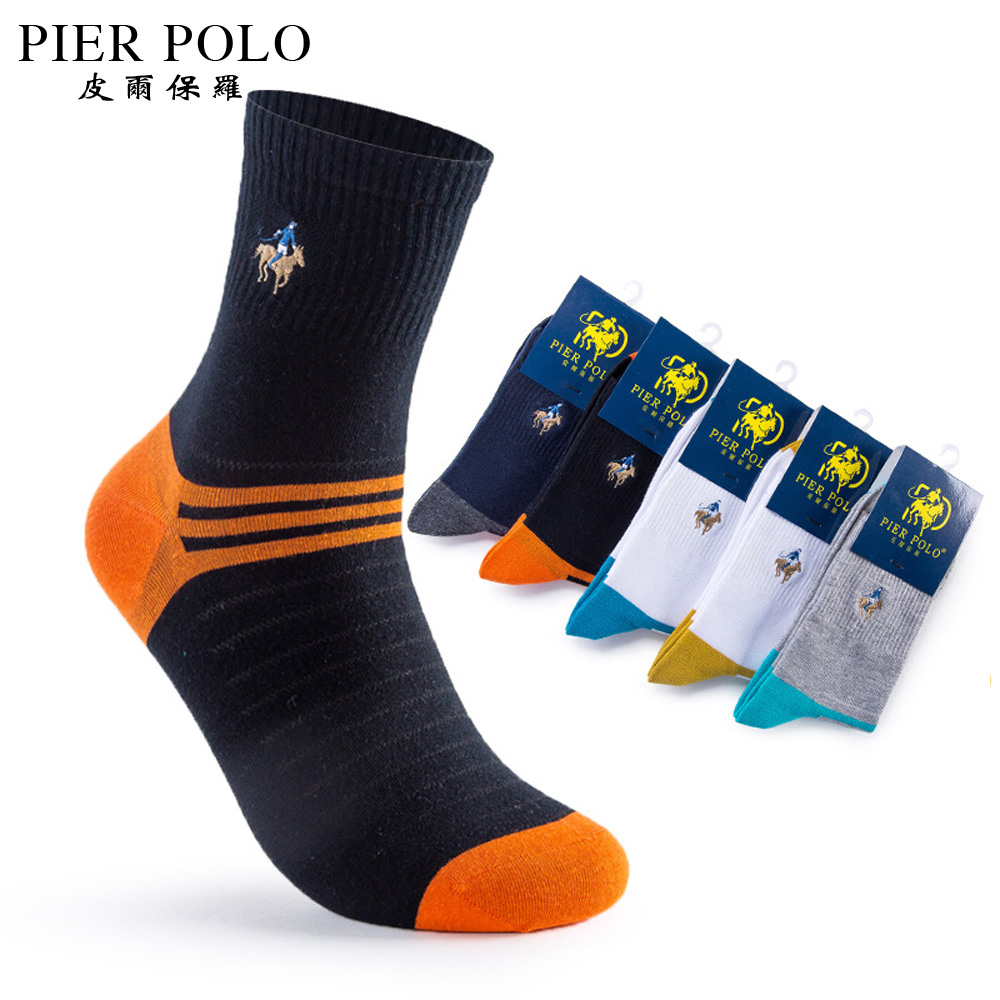 So Cal Clothing >> 5 Pairs/lot PIER POLO Brand Men Socks Embroidery Meias ...