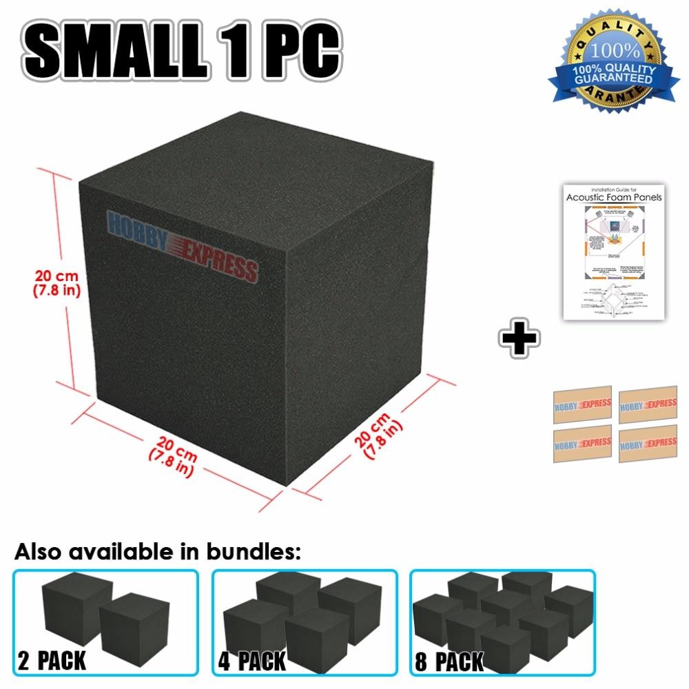 Arrowzoom esquina acústica cubo trampa de graves de estudio de aislamiento de espuma de 20x20x20 cm (7,8x7,8x7,8