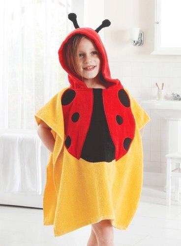5 видов конструкций детский халат с капюшоном/детское полотенце/модель ing полотенца с фигурками животных/детский банный халат/детское банное полотенце - Цвет: ladybird
