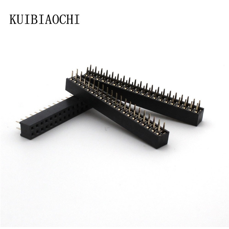 10pcs/lot High Quality 2x20 Pin 40P 2mm Double Row Female Straight Header Pitch