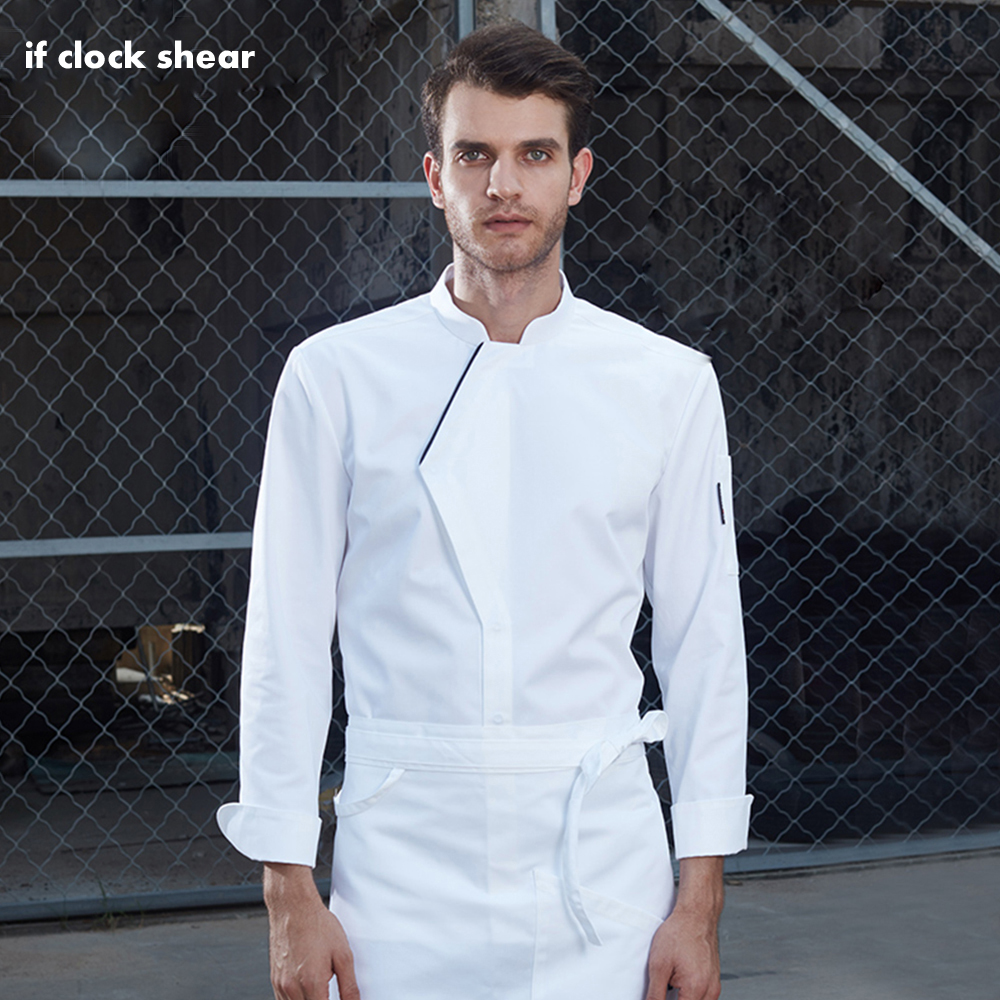 2019 Long Sleeve Chef Jacket Uniforms Hotel Cook Clothes Food Services Coats Restaurant Chef Shirts Men's Professional Clothing