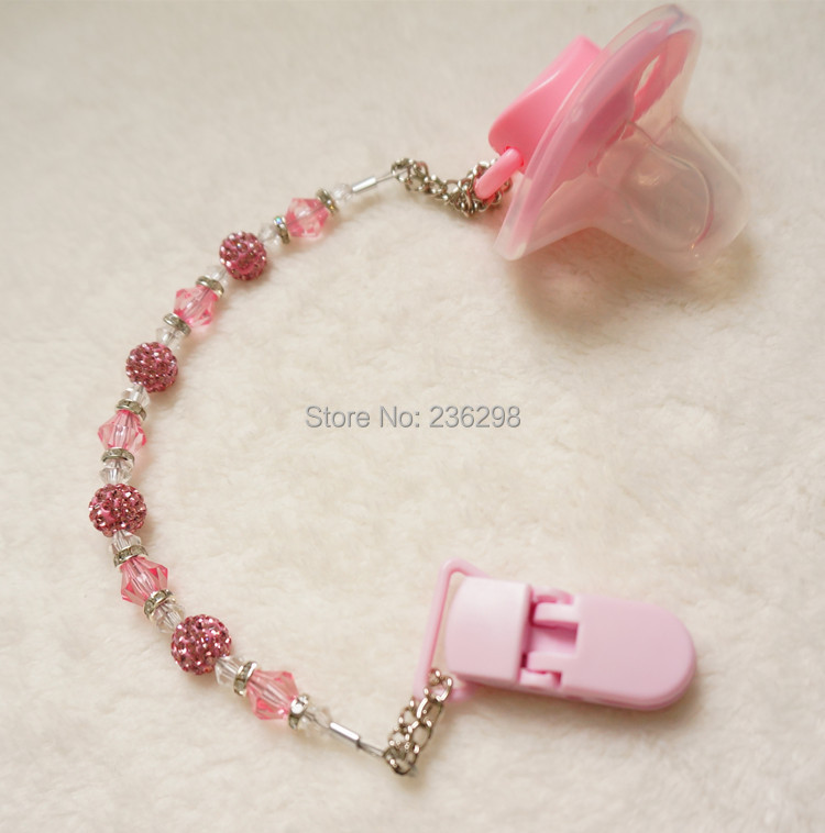 MIYOCAR Baby Stunning Princess pink Bling bling tangan dibuat / klip - Memakan kanak-kanak - Foto 5