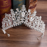 Women Bridal Wedding Hair Accessories Jewelry Head Beaded Tiaras Noiva Bride Headpiece Wedding Crown