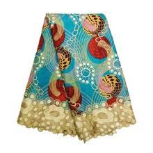 Хлопок Pagne супер воск Анкара кружева воск африканская вышивка голландский воск с кружевной тканью новые принты в голландском стиле ткани